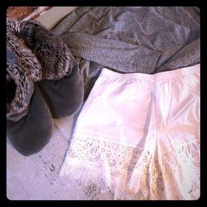 NWT Topshop Lydia Lace Pajama/Lounge Shorts
